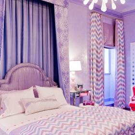 紫色臥室窗簾效果圖