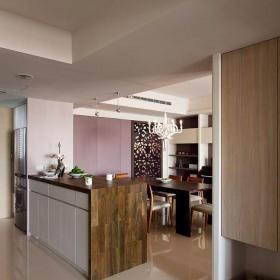 91-120平米混搭风格120平三居室原木色吧台效果图