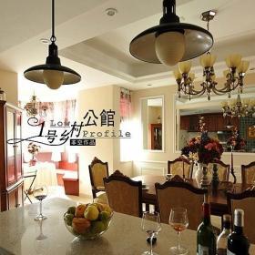 美式鄉村風格別墅奢華原木色豪華型140平米以上吧臺燈具圖片效果圖