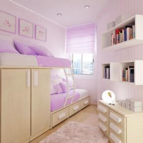 卧室卧室朦胧的淡紫色装修效果图