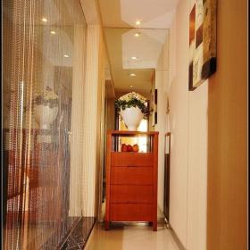 中式风格公寓大气原木色豪华型140平米以上过道装修图片效果图