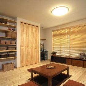 61-90平米簡約風格二居室原木色榻榻米裝修圖片效果圖