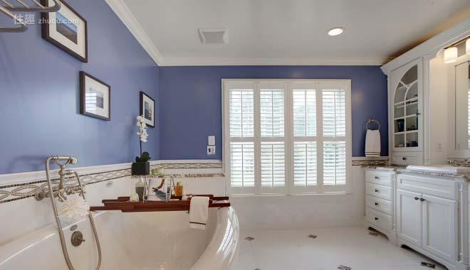 卫生间吊顶紫色系卫生间装饰图片效果图