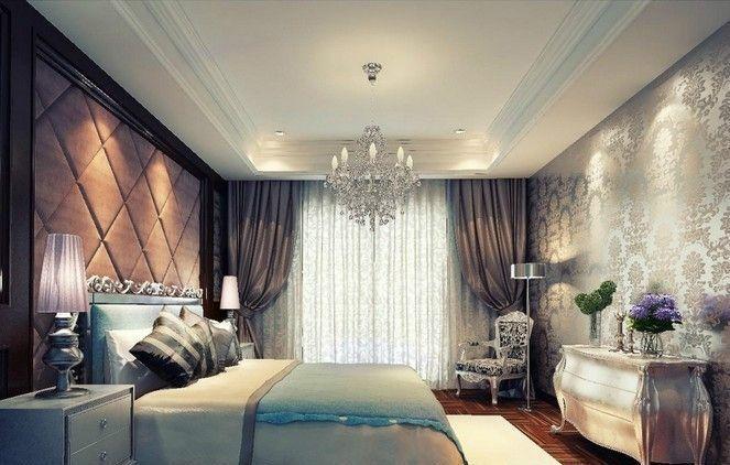 紫色的小卧室吊顶效果图