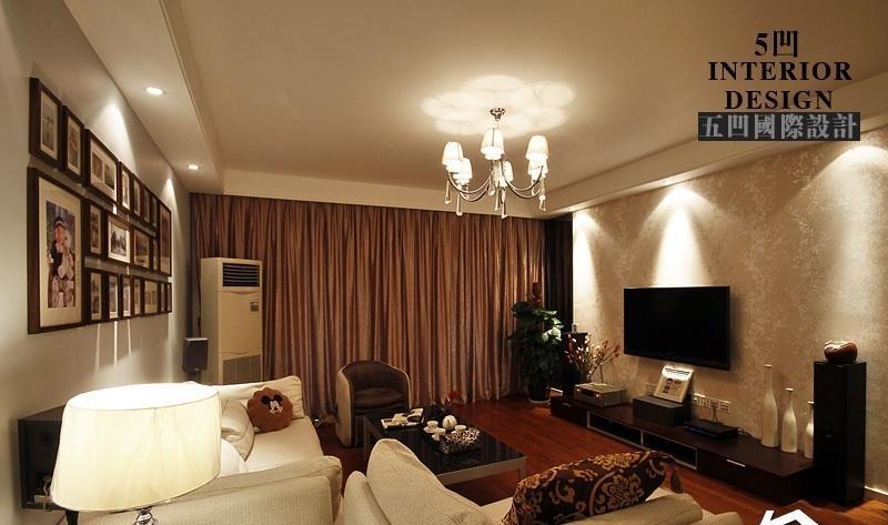 简约风格公寓温馨原木色富裕型客厅沙发背景墙茶几图片效果图