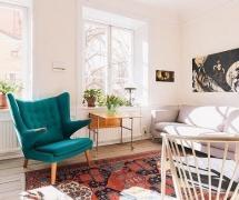 75平清新宜家兩居之客廳裝修設計效果賞析