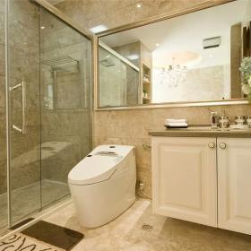 200平大氣新中式別墅之一樓衛生間設計效果圖