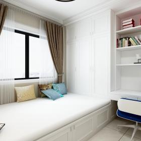 126.5平米新中式三居之書房榻榻米設計效果圖