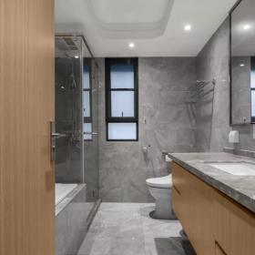 160平新中式三居之衛生間墻面裝飾效果圖