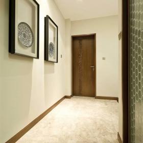 200平大氣新中式別墅之玄關走廊裝飾效果圖