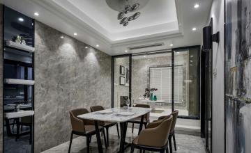 142㎡宜家三居之餐厅吊顶装潢设计效果图