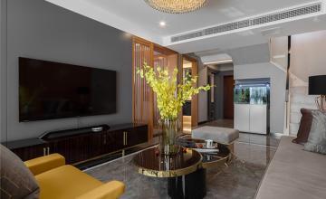 118㎡轻奢宜家风三居之电视墙装潢设计效果图