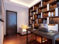130平米三室两厅新中式风格书房