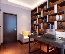 三室两厅130平米新中式风格书房吊顶装修效果图