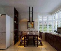 新中式风格三居室餐厅 吊顶装修效果图欣赏