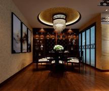 新中式风格五居室餐厅吊顶装修图片