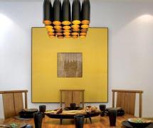 新中式风格四居室餐厅吊顶图片