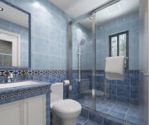 混搭风格四居室卫生间背景墙装修效果图