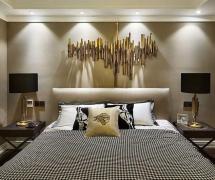 简欧风格四居室卧室床装修效果图欣赏