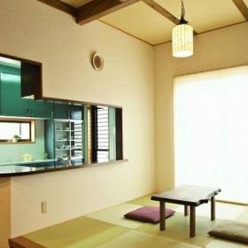 現代中式簡約陽臺小房間榻榻米圖片裝修效果圖