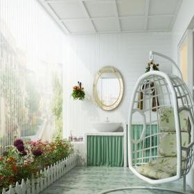 现代小清新阳台效果图