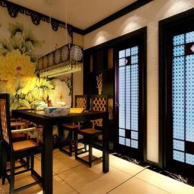餐厅背景墙新中式风格餐厅装修效果图