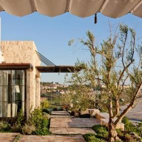 现代欧式风格200平米别墅浪漫婚房布置阳台窗户效果图
