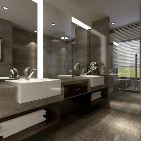 现代卫生间别墅设计案例展示效果图