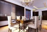 140㎡3室2廳1廚2衛簡約歐式風格餐廳背景墻裝修效果圖簡約歐式風格餐臺圖片