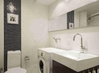 现代简约三居室卫生间灯具装修图片效果图
