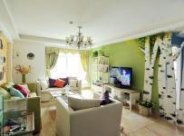 混搭风格二居室客厅电视背景墙装修效果图混搭风格吊顶图片