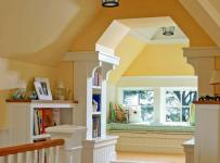 地中海客厅四居室黄色地中海风格大空间客厅飘窗设计效果图