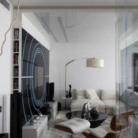 简约风格公寓富裕型100平米玻璃隔断地毯图片效果图