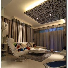 簡約風格公寓富裕型80平米客廳背景墻沙發效果圖