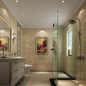現代簡約二居室衛生間隔斷裝修效果圖