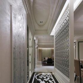 地面拼花走廊墙面装饰简约欧式风格进门玄关吊顶造型装修效果图