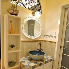 地中海风格二居室卫生间灯具装修图片效果图
