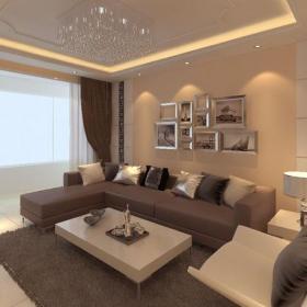 照片墻窗簾吊頂小戶型現代風格客廳沙發背景墻裝修效果圖現代風格沙發圖片