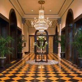 大戶型別墅走廊地面拼花裝修效果圖