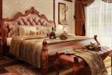 地毯背景墙地毯卧室背景墙贵气的美式风格卧室装修效果图