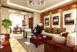 家具的摆放合理,地面装饰与吊顶效果图