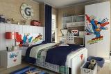卧室卧室背景墙超人儿童房图片效果图