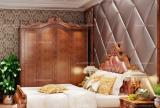 实木家具背景墙红色床大户型复式楼卧室美式古典卧房诠释低调的华丽效果图大全