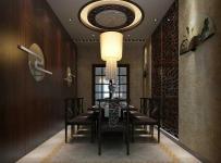 隱形門吊燈餐臺家具墻面裝飾餐桌餐椅簡約中式風格餐廳吊頂裝修效果圖簡約中式風格餐椅圖片