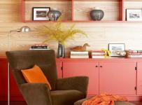 沙发家居收纳橙色收纳超强的家居空间一角效果图大全