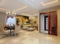 歐式過道餐廳客廳整體效果效果圖大全