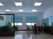 现代简约风办公室设计吊顶隔断沙发区装修效果图大全