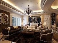 280㎡欧式风格客厅沙发背景墙装修效果图欧式风格欧式沙发图片