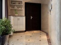 140㎡三室一廳簡歐風格玄關地面拼花裝修效果圖簡歐風格進門鞋柜圖片