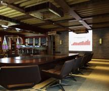 现代风格会议室背景墙装修效果图现代风格办公椅图片